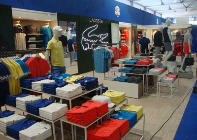Ryder Cup 2018 Lacoste shop-in-shop