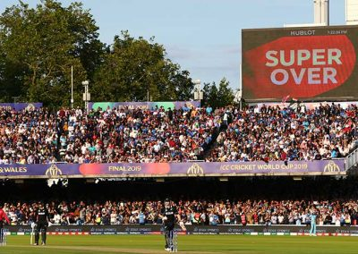 ICC Cricket World Cup Final Super Over screen