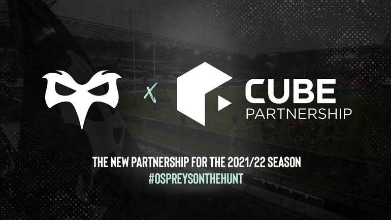 ospreys x cube partnership lockup logo
