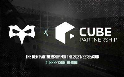 Cube Partnership Announced As Ecommerce Partner Of The Ospreys