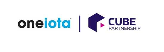one iota x cube partnership logo